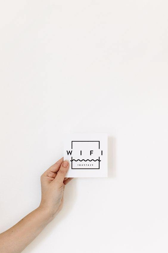 What are some creative and cool ways to display your WiFi password for your office guests  Quora