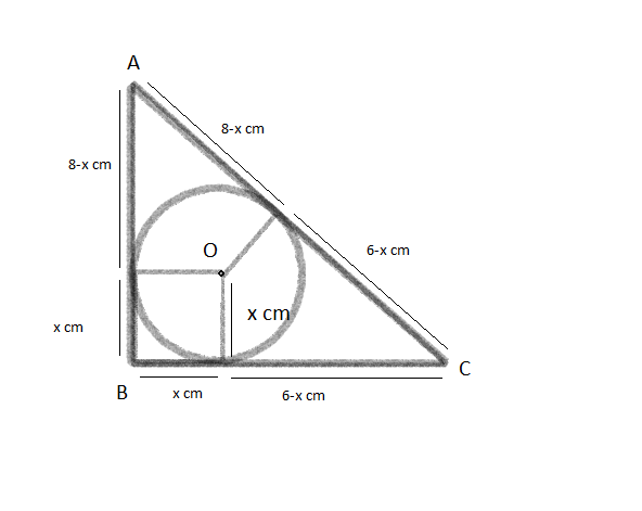 ABC is a right-angled triangle, having the right angle at