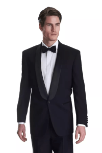Is a black suit (as opposed to a tuxedo) adequate for a