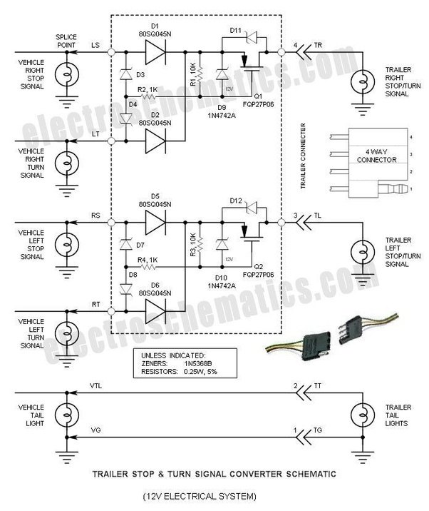 When rewiring a utility trailer, how can you identify the