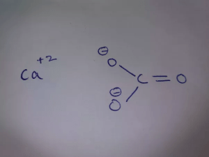 How to determine the Lewis structure for calcium carbonate