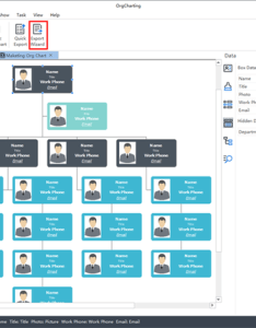 As long the structure and data of your org chart is settled in orgcharting it has never been easier to export excel at one click also how create  linked quora rh