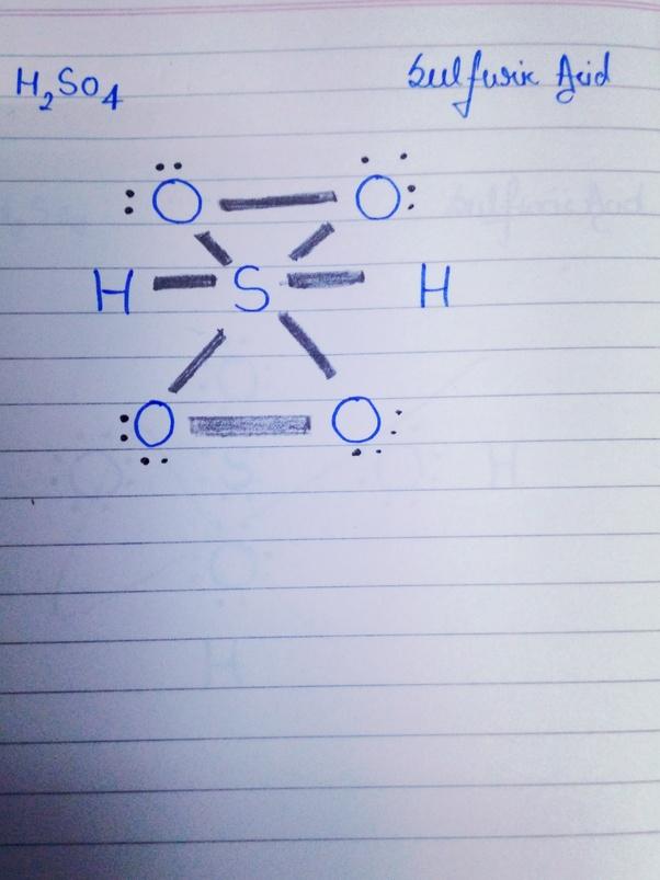Lewis Structure Of H2s : lewis, structure, Lewis, Structure, H2SO4?, Quora