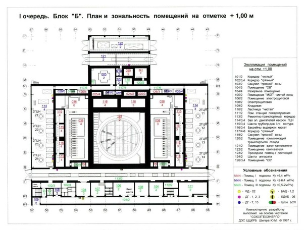 What was the layout of the Chernobyl Nuclear Power Plant
