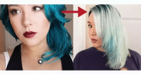 What color does purple hair dye fade to?