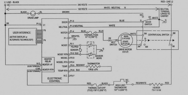 Which terminals on this motor are positive and negative