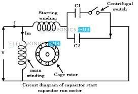 wiring diagram of capacitor start induction motor car towing how to select a running for single-phase 4 poles - quora