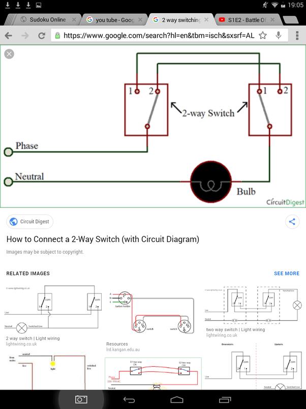 2 Way Switch Wiring Diagram : switch, wiring, diagram, Light, Switches, Quora