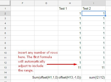 How to insert a row and have a formula update automatically in ...