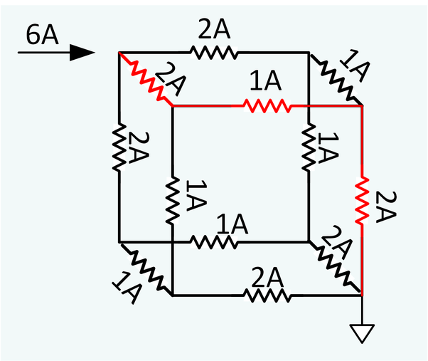 Twelve similar wires, each of resistance 2 ohms, are