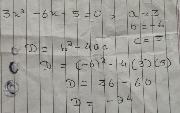 Given the trinomial 3x2 − 6x + 5, what is the value of the