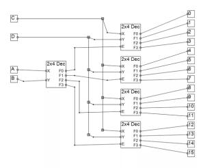 How to make 4X16 decoder using 2X4  Quora