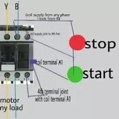Control Wiring Diagram Of Dol Starter Easy Read Diagrams How Does A Work Quora As Seen In Image N R Y Bare Taken From Supply And Given To Motor Via Contactor