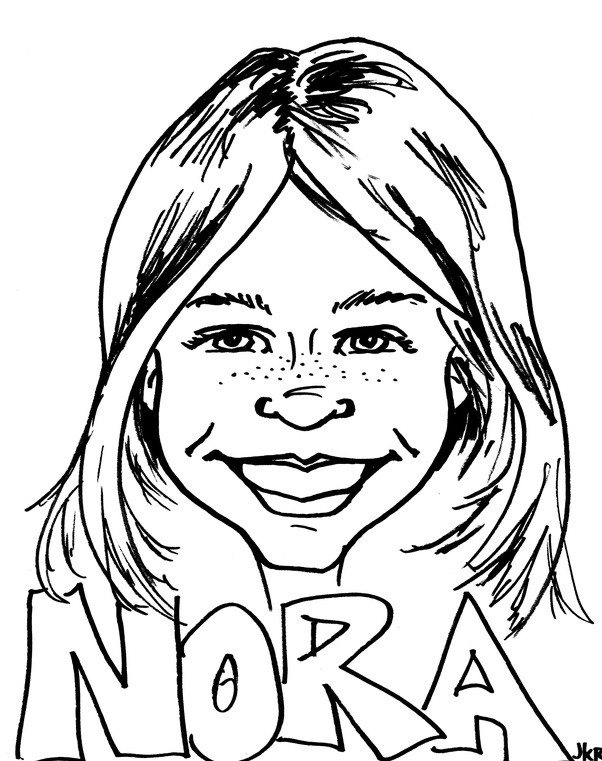 How fast does a live professional caricature artist have