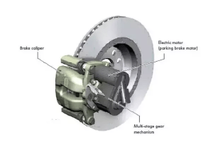 In case of service brake failure, how does an electric