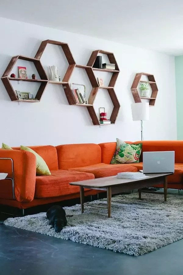 of curtains will go with orange walls