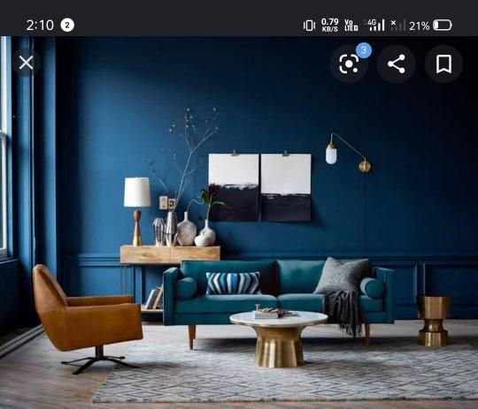 which colour curtains suit a royal blue
