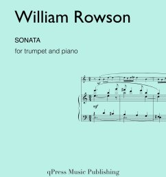 rowson sonata for trumpet and piano by rowson william [ 1236 x 1600 Pixel ]