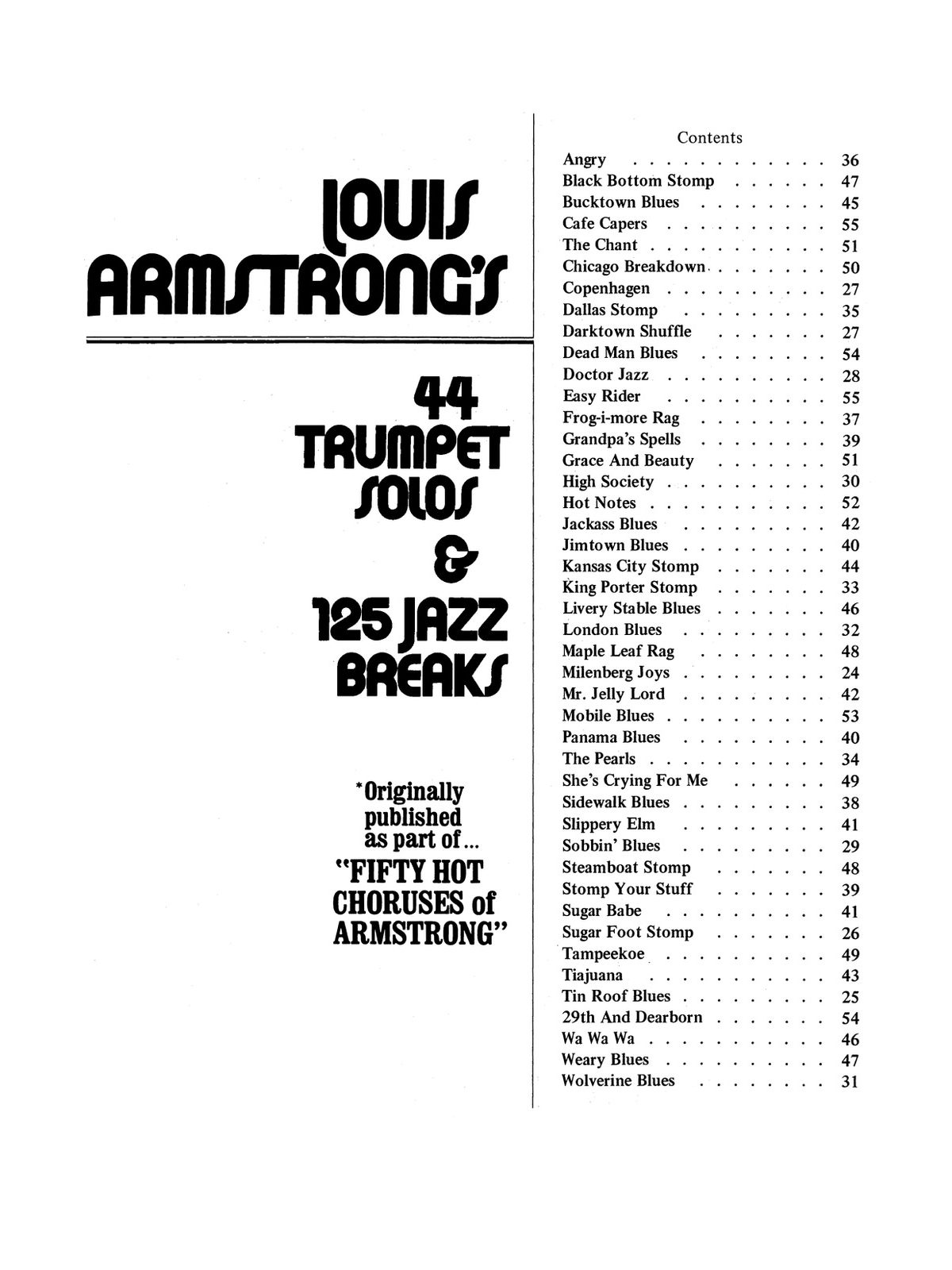 44 Trumpet Solos & 125 Jazz Breaks of Louis Armstrong by