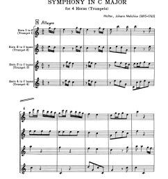 molter symphony in c for 4 trumpets or horns p19 [ 1236 x 1600 Pixel ]
