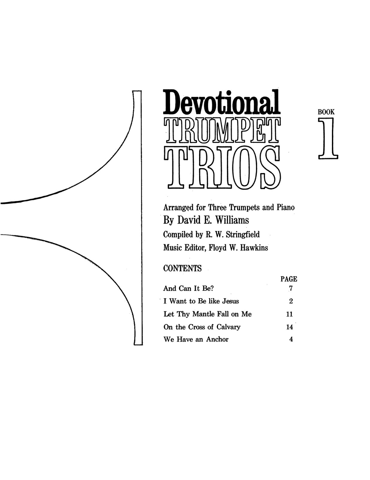 Devotional Trumpet Trios Books 1 & 2 (With Piano) by