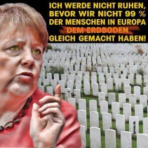 Merkel Friedhof Gleichmacherei-Gleichheit der Menschen