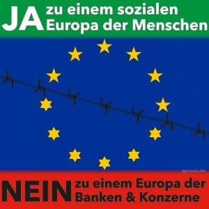 Ja und Nein Europa der Menschen