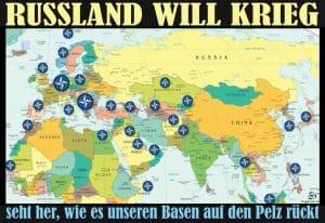 Zum Krieg bereit: USA erspähen massives russisches Truppenaufgebot rund um Moskau russland will krieg us basen bedroht verteidigungskrieg humanitaere mission intervention qpress