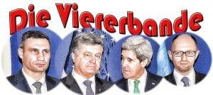 Die Viererbande Klitschko Poroschenko Demjanjuk Kerry