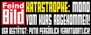 Feind BIld Putin Ukraine ist schuld Propaganda Schlagzeile qpress