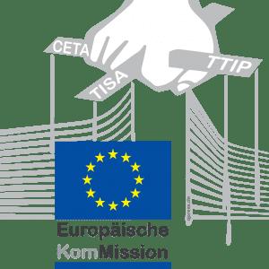Europaeische Kommission Juncker Logo Puppenspieler ftrmfgesteuert  CETA TTIP TISA Politik Europa qpress 150-01