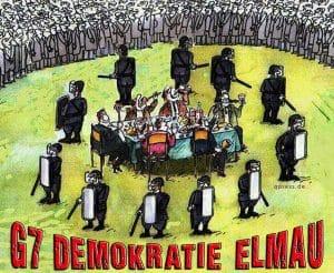 G7 Demokratie 2015 Schloss Elmau bayern Gipfel Politik teffen verschwendung von Steuermitteln kosten Protz