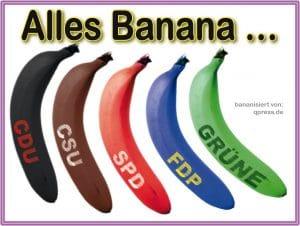 Ihr könnt alles wählen alles Banane alle aprteien kommt immer groko raus