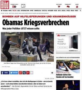 Serioese Berichterstattung deutsche Qualitaetsmedien BILD bloed Hetzblatt Putin Syrien Obama Russland USA Kriegsverbrechen ISIS Konflikt Krise Weltkriegspotential