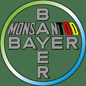 Bayer Monsanto Logo nach Fusion bervrechersyndikat giftmischer Todmacher Chemie riesen