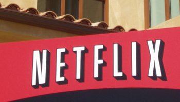 Netflix sign at headquarters