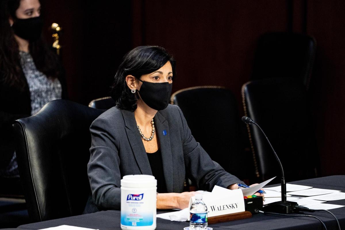 La directora de los CDC, Rochelle Paula Walensky. EFE/EPA/Anna Moneymaker / POOL/Archivo