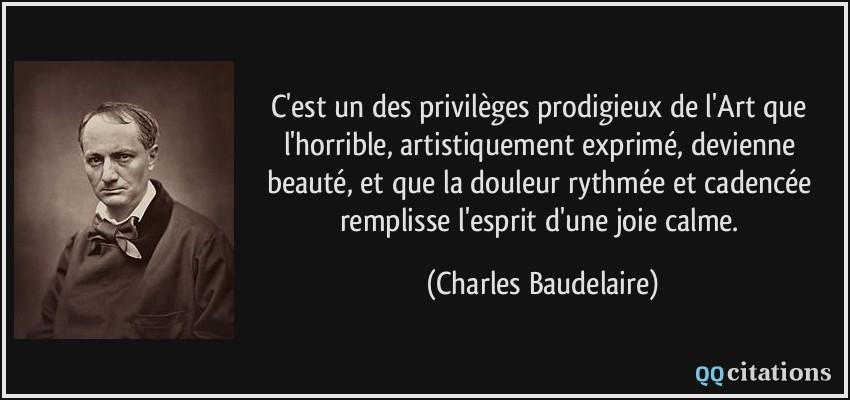 Citation de Charle Baudelaire