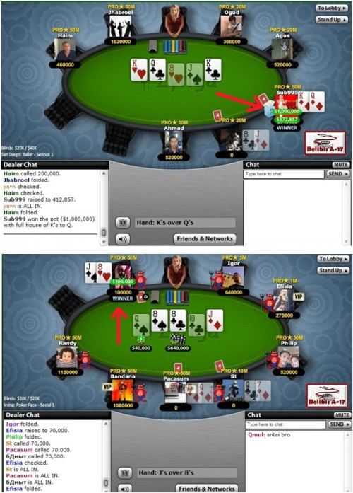 Texas Holdem Poker FULL HOUSE