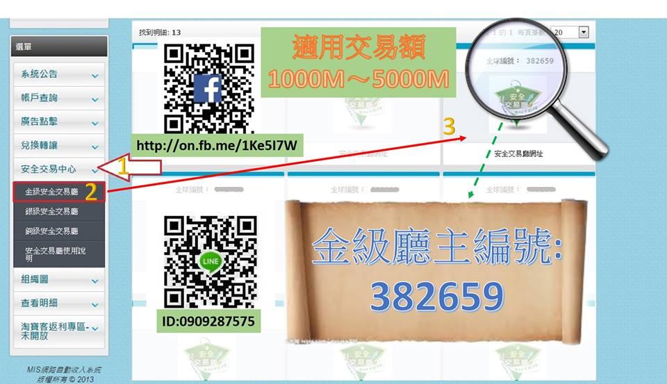 安全交易廳【賣幣】流程 - MIS網路自動收入系統 推薦人編號9953608009