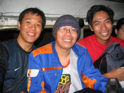 Bong, Mar, and I on our way to Cuenca, Batangas via jeepney