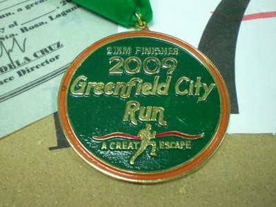 Another finishers medal courtesy of Greenfield City Run