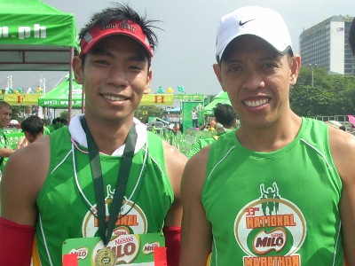 With Vener soon after my marathon finish