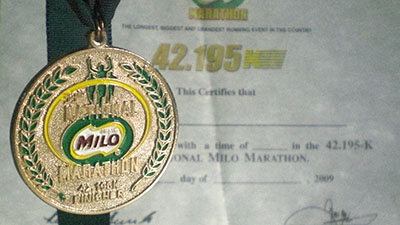 Milo Marathon Finisher's Medal