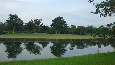 A view of the golf course where the trail was just outside of