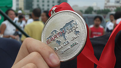Medal from the Earth Run