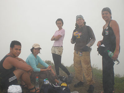 The RunHikers at the summit of Pico de Loro (myself behind the camera)