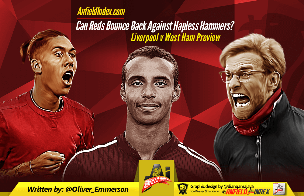 Liverpool vs West Ham Preview: Can Reds Bounce Back Against Hapless Hammers?
