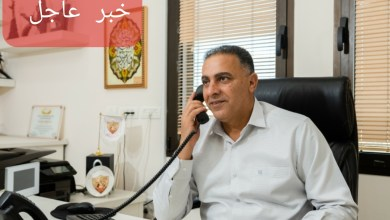 صورة المحامي فراس بدحي رئيس مجلس كفرقرع المحلي يقاطع الجلسه مع نتنياهو