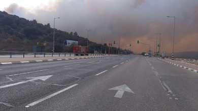 صورة اندلاع حريق هائل في احراش عيرون